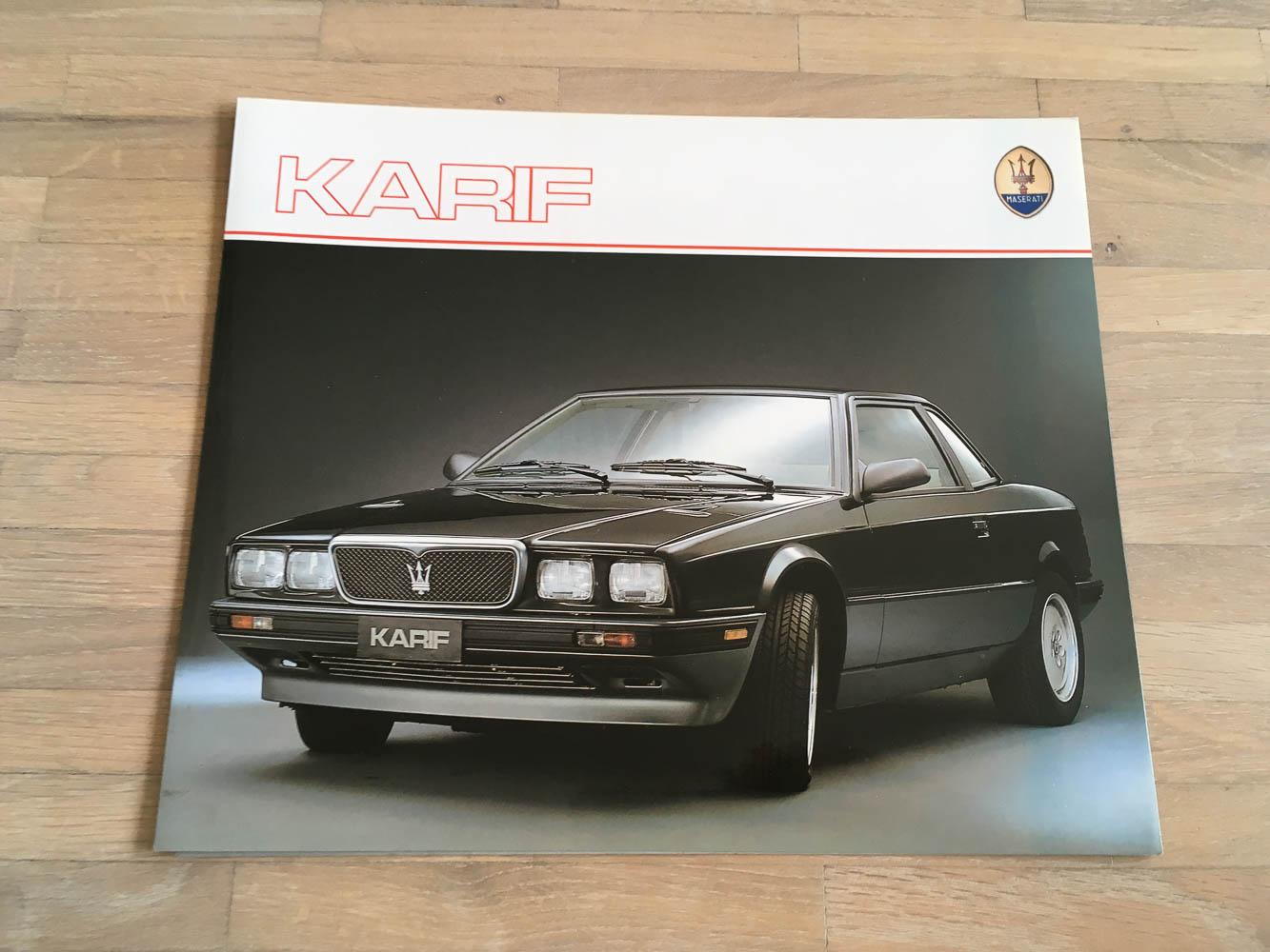 Maserati Karif /ca. 89 - Autoprospekte-Sammlung