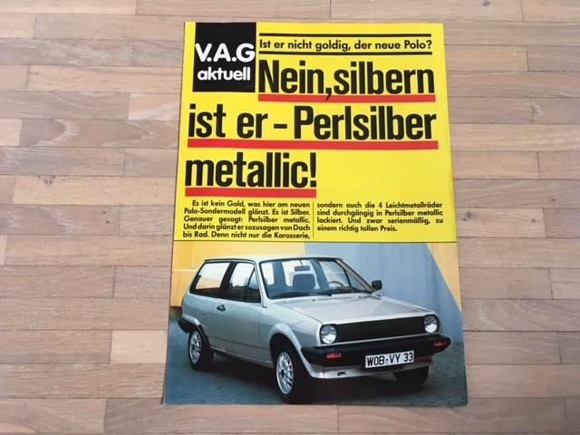 "VW Polo /""Fantasy/"" Sondermodell Prospekt Poster von 1992"