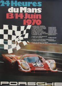 logo porsche Rennplakat poster Le Mans 1970