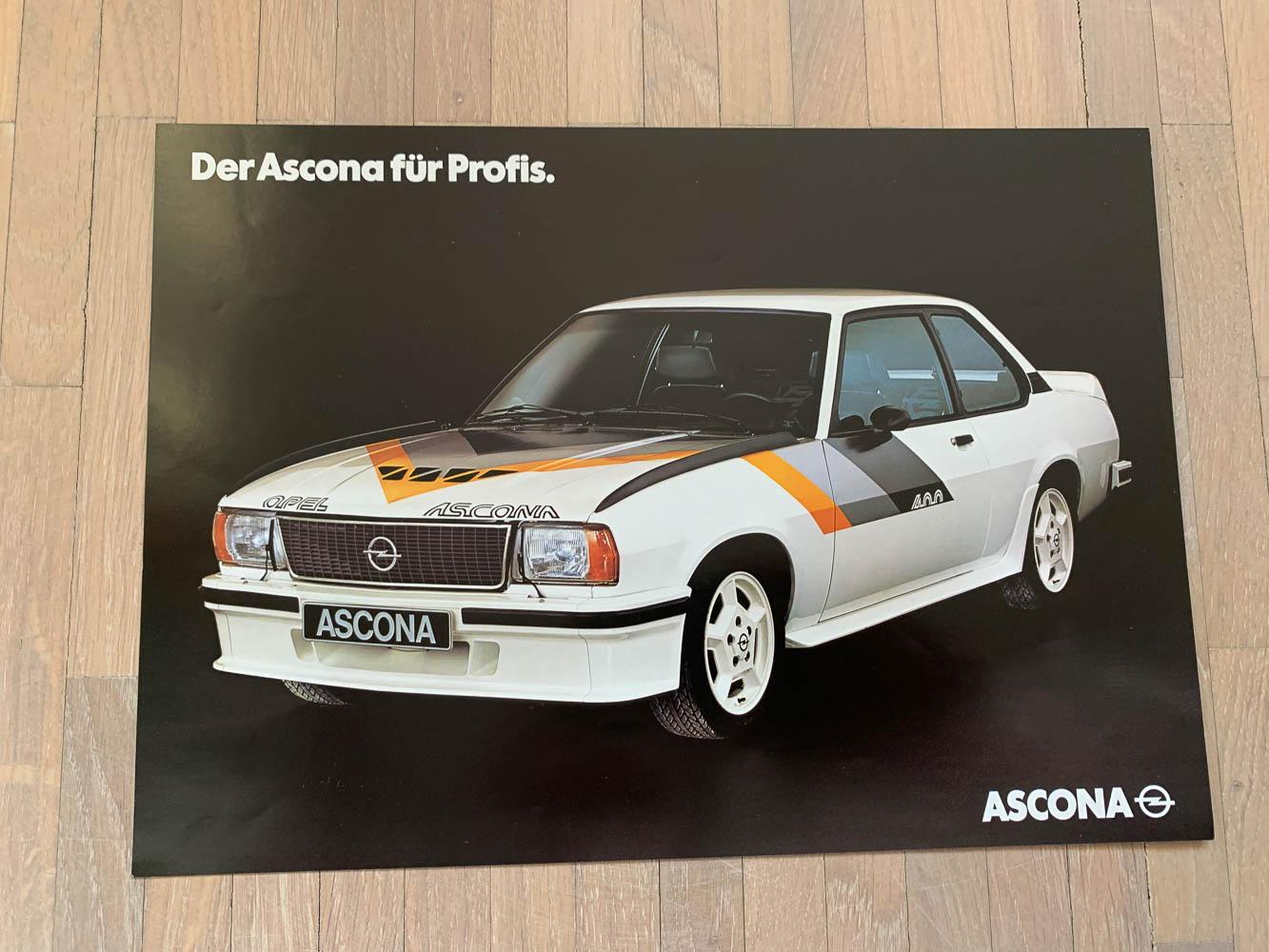 opel ascona b400 prospekt
